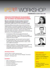 Workshop research performance measurement and the impact for Chambre de commerce kirchberg